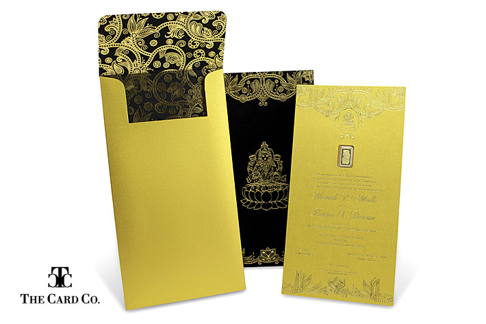 gold invite 1 the card co dubai reveals groundbreaking wedding stationery with,Luxury Invitation Cards